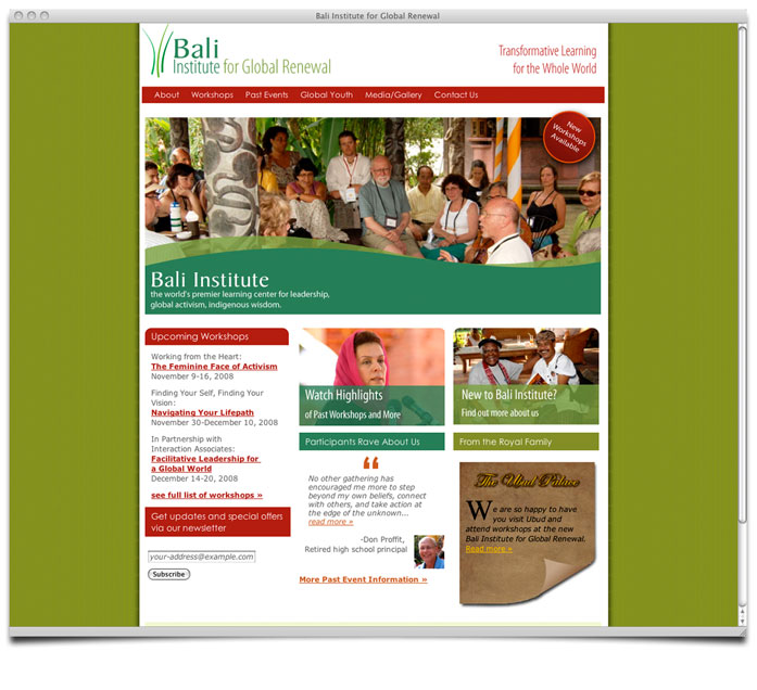 Bali Institute for Global Renewal Homepage