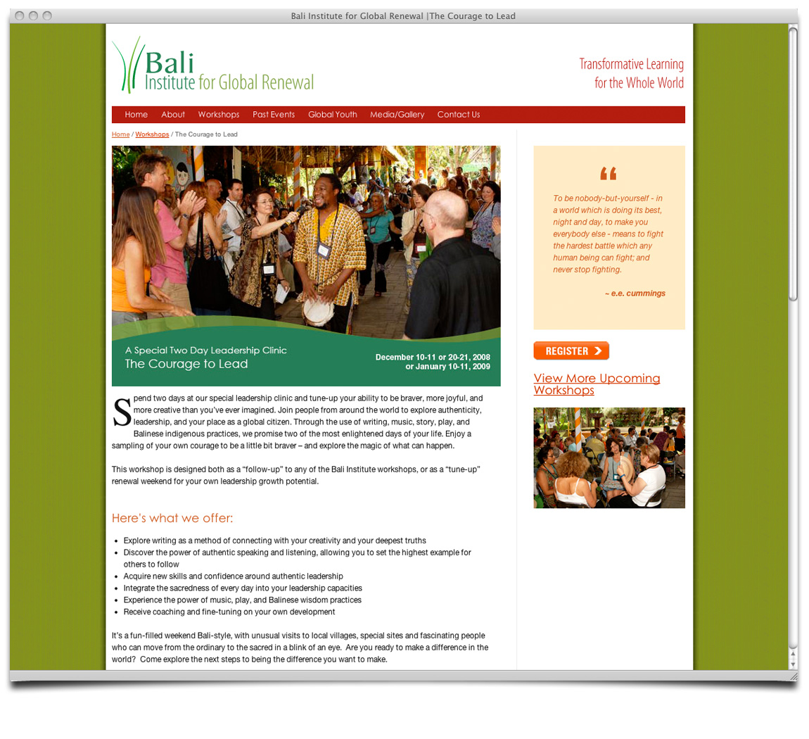Bali Institute for Global Renewal Detail Page